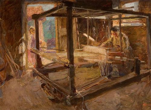 Giuseppe Grazioni, <em>La tessitrice</em>, 1910 circa. Palazzo Foresti, Carpi