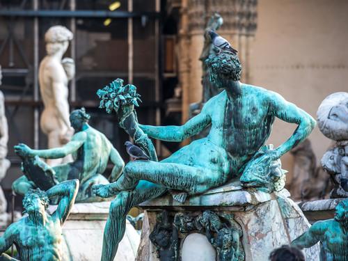 Sculture della Fontana del Nettuno in Piazza della Signoria a Firenze   Foto: Yulia Grigoryeva