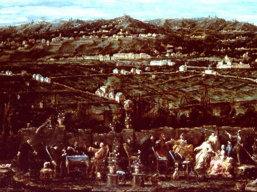 Trattenimento nel giardino di villa saluzzo d albaro il lissandrino alessandro magnasco le - Il giardino di albaro ...