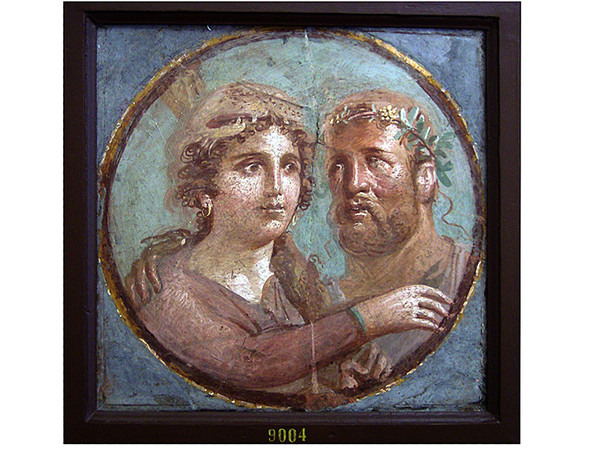 Affresco Eracle e Onfale, MANN - Museo Archeologico Nazionale di Napoli