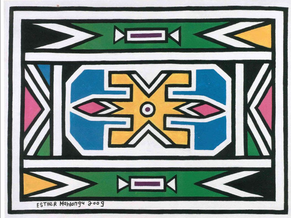 Esther Mahlangu, Untitled, 2010. Acrylic on canvas, 100 x 129 cm.