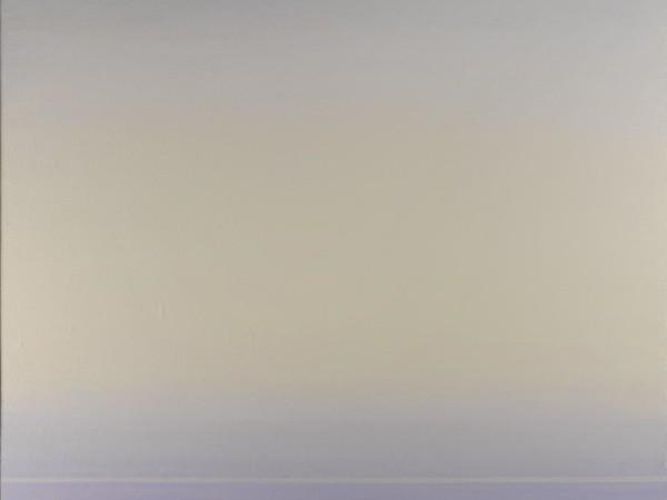 Piero Guccione, La linea verde, 2010-2014 olio su tela, cm 110 x 105. Collezione privata