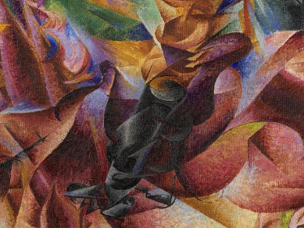&quot;Umberto Boccioni (1882-1916). Genio e Memoria&quot;, Palazzo reale, Milano 25 marzo - 10 luglio 2016, Umberto Boccioni, <em>Elasticit&agrave;</em>, 1912, Olio su tela, cm 100x100 | Coll. Jucker