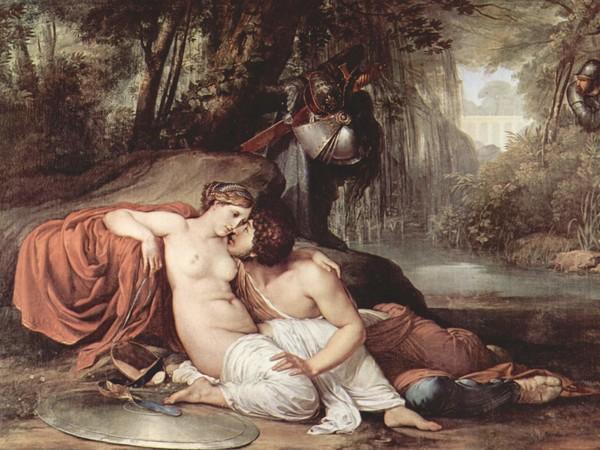 Francesco Hayez, <em>Rinaldo e Armida</em>, 1813, 295 x 198 cm, Gallerie dell'Accademia di Venezia<br />