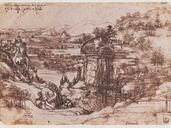 Leonardo da Vinci, Paesaggio di Santa Maria della Neve, il 5 agosto 1473