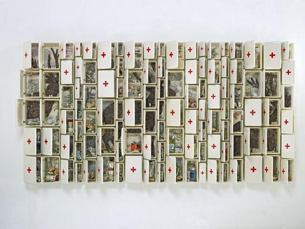 """Bertozzi & Casoni, """"Composizione n. 14"""", 2009, ceramica policroma, cm. h. 175 x 323 x 25"""