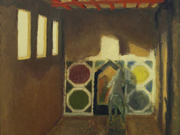 Giovanni Copelli, Interno, olio su tela, cm. 40x60. A Cavallo (Monumenti Equestri e Altre Pitture), 2020