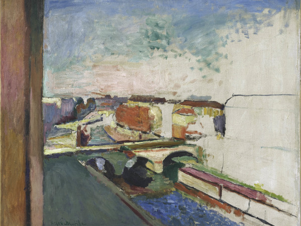 Henri Matisse, Pont Saint-Michel, 1900 ca. Olio su tela, 58x71 cm. Collection Centre Pompidou, Paris Musée national d'art moderne - Centre de création industrielle. Photo : © Centre Pompidou, MNAM- CCI/Philippe Migeat/Dist. RMN-GP © Succession H. Matisse by SIAE 2015