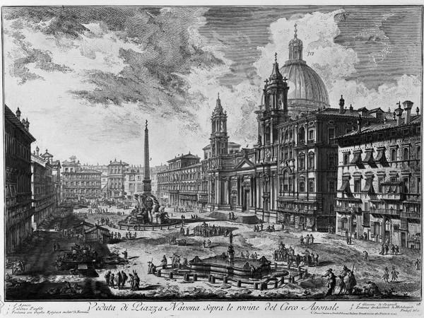 Veduta di Piazza Navona sopra le rovine del Circo Agonale (Tomo I)