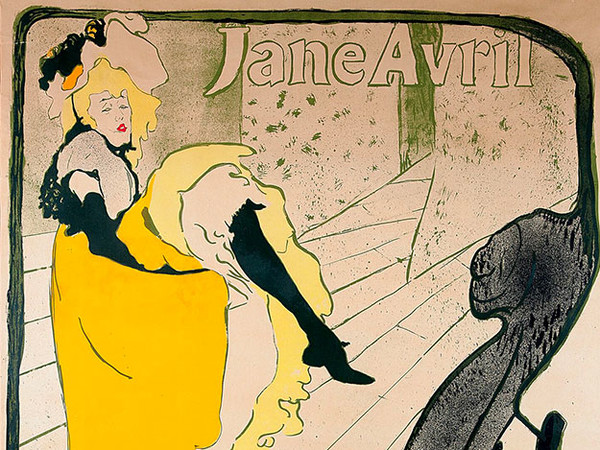 Henri de Toulouse-Lautrec, <em>Jane Avril (Before Letters)</em>, 1893, Color Lithography,  91.5x124 cm.<br />