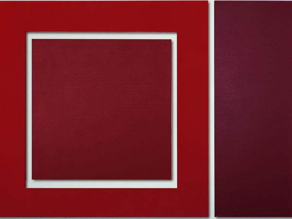 Enzo Cacciola, 9-11-73, pittura industriale su tela, 1973, 105x148 cm.