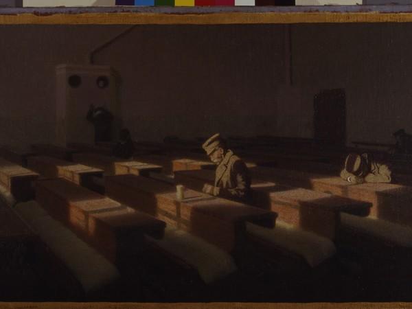 Angelo Morbelli, Il Natale dei rimasti, 1903. Olio su tela, 62x111 cm. Fondazione Musei Civici di Venezia Ca' Pesaro - Galleria Internazionale d'Arte Moderna