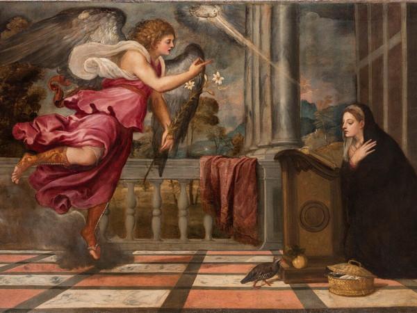 <span>Tiziano Vecellio (1490 - 1576),</span><em>Annunciazione,</em><span>1539 circa, Venezia, Scuola Grande Arciconfraternita di San Rocco</span>