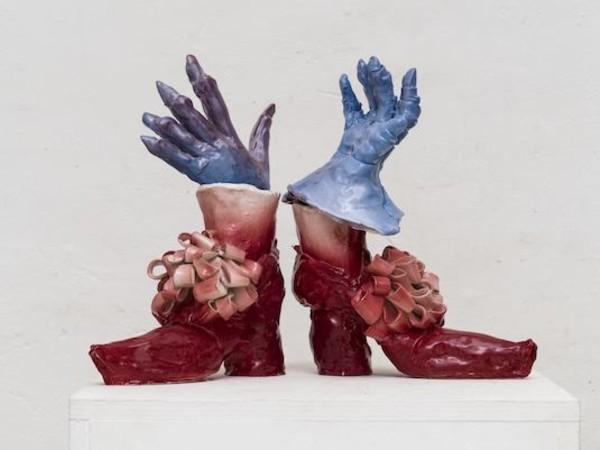 Emiliano Maggi, Velvet Gloves on Ribbon Bows, 2019
