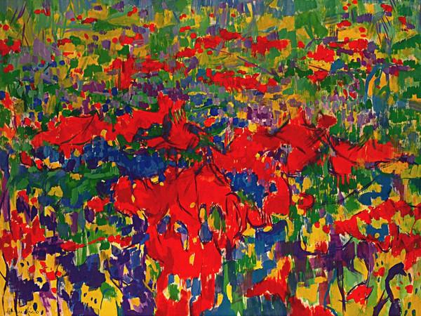 Ettore Fico, Giardino fiorito, 2003, cm. 120x160