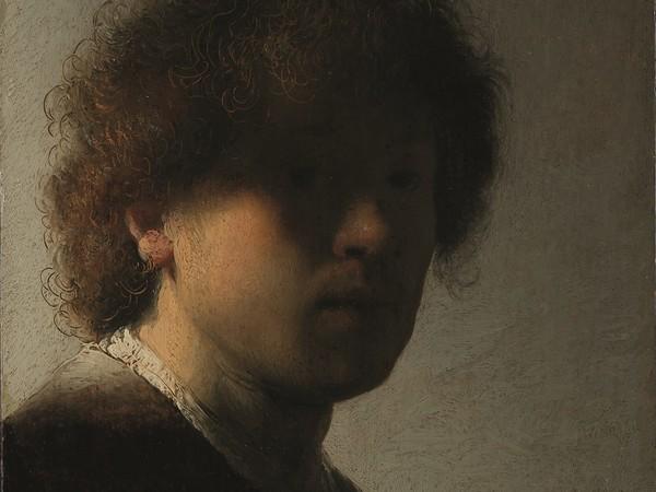 Rembrandt van Rijn, Autoritratto Giovanile, 1628 circa, olio su tavola. Rijksmuseum, Amsterdam