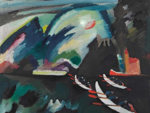 Vasilij Kandinskij, Lago, 1910. Olio su tela, cm. 98x105. Mosca, Galleria Tret'jakovskaja
