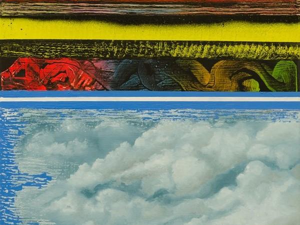 Vincenzo Ferlita, Coelum, 2020. Mista su tela, 70x50 cm.