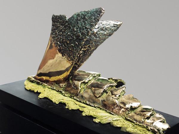 Il vomere e il solco, 2000, bronzo patinato, cm.70x25