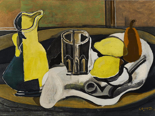 Georges Braque, <em>Nature morte aux citrons</em>, 1960, Incisione, 57 x 47 cm<br />