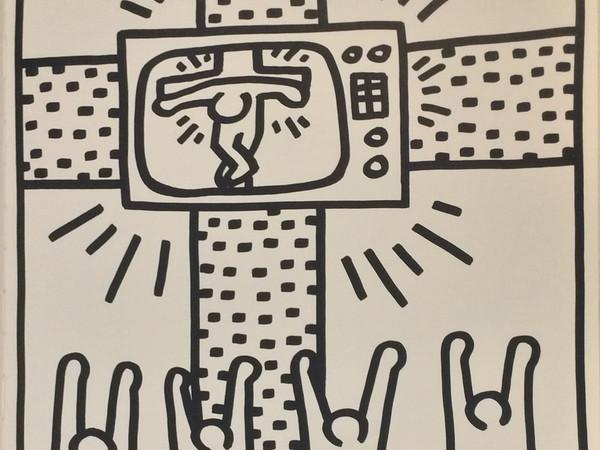 Keith Haring, Una delle 30 tavole llitografiche su carta tratte dal libro d'artista realizzato da Haring nel 1983 in collaborazione con il gallerista Lucio Amelio
