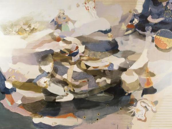 Jingge Dong, Antares #1, 2020, tecnica mista su tela, 200x300 cm.