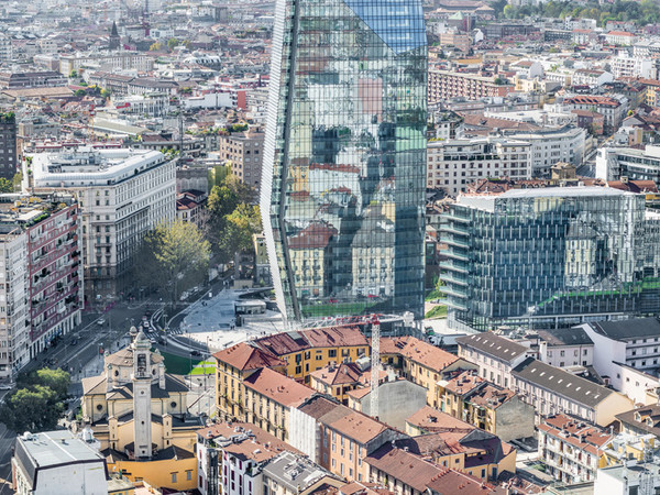 Francesco Radino, veduta dal Grattacielo Pirelli verso Porta Nuova, Milano, 2014