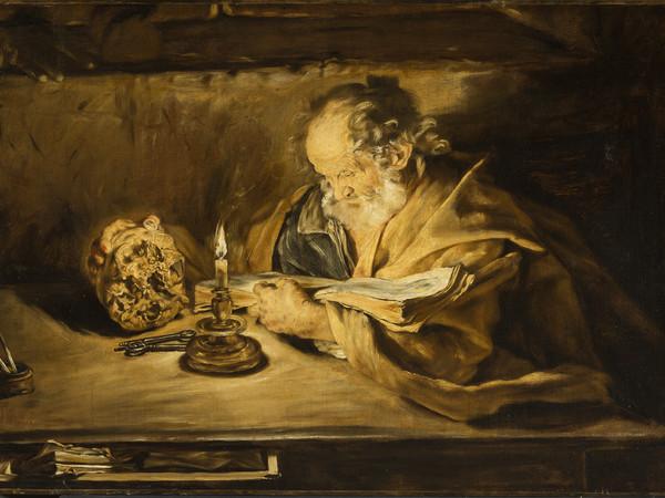 Giovanni Serodine<strong>,&nbsp;</strong>Ascona o Roma 1594/1600 &ndash; Roma 1630,&nbsp;<em>San Pietro che legge</em>,&nbsp;1628-1630 circa.&nbsp;Olio su tela.&nbsp;Rancate, Pinacoteca Cantonale Giovanni Z&uuml;st<br />