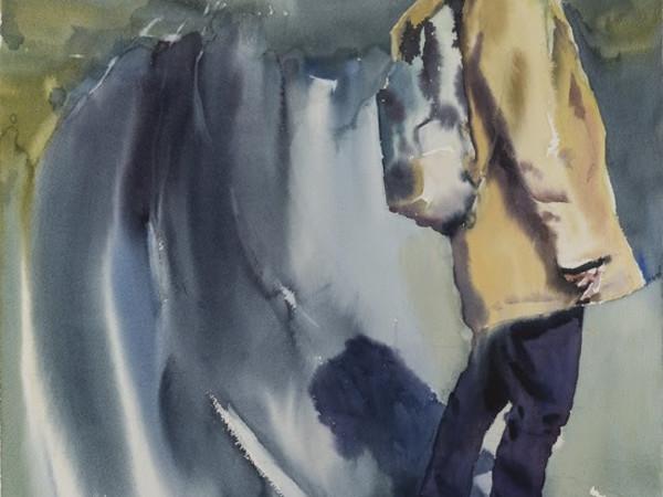 Andrey Esionov, Fattore Psi, 2017, сarta, acquerello, cm. 76x56