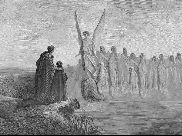 Felice Limosani per 'Dante. Il Poeta Eterno' di incisione originale di Gustave Dorè, Purgatorio, Canto 2 43-44