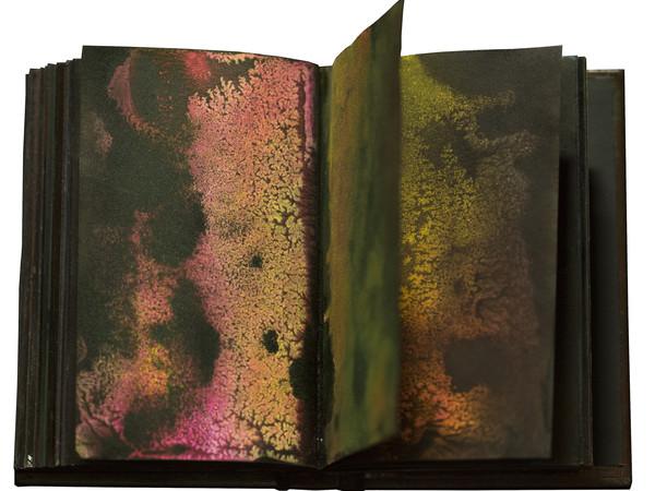 Marco Cassarà, Solar Plexus, libro d'artista 2015, dettaglio, tecnica su carta, 16x10, pp 181
