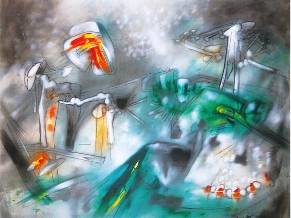 Roberto Sebastian Matta, La lumiere de l'edore, 1958, olio su tela, cm. 115x150