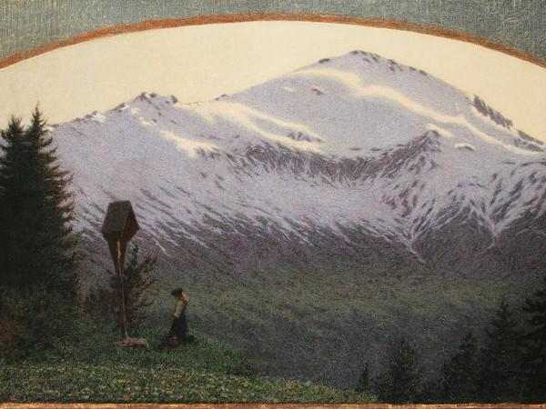 Angelo Morbelli, Ave Maria, 1910, olio su tela, cm. 90,5x139