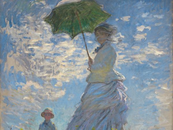 Claude Monet (1840 - 1926), Donna con il parasole - Madame Monet e suo figlio, 1875, Olio su tela, 100 x 81 cm, Washington, D.C, National Gallery of Art