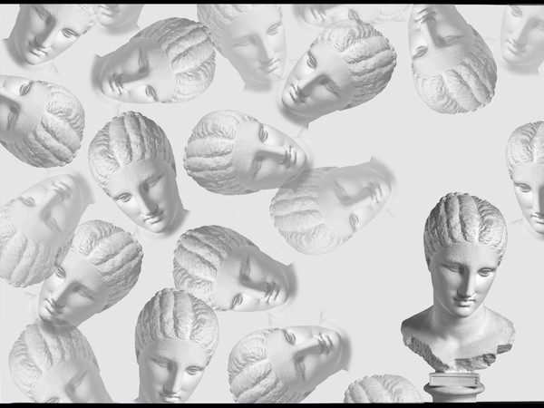 Testa femminile c.d. Fanciulla Brunn - 320 - 310 a.C. Stampa giclé b/n su carta baritata, cm. 60 x 42