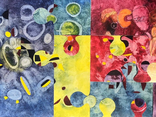 Tafadzwa Gwetai, Illusion of perfection - Hocus Pocus, 2021, oil on canvas, cm. 186.5x94