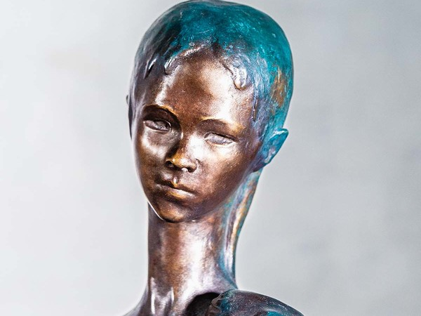 Enzo Nenci, San Giovanninio, 1953, bronzo policromo