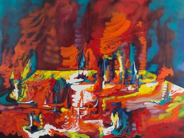 Marco Cingolani, Lupercalia aujourd'hui, olio su tela, cm. 150x200