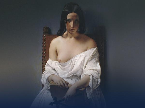 Francesco Hayez,<em>La Meditazione, </em>1851<em>,</em>olio su tela, cm. 90x70
