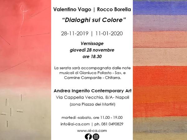 Dialoghi sul Colore, Galleria Andrea Ingenito, Napoli