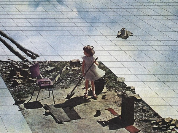 """Superstudio, """"Fundamental Acts. Life (Supersurface). Spring Cleaning"""", 1971"""
