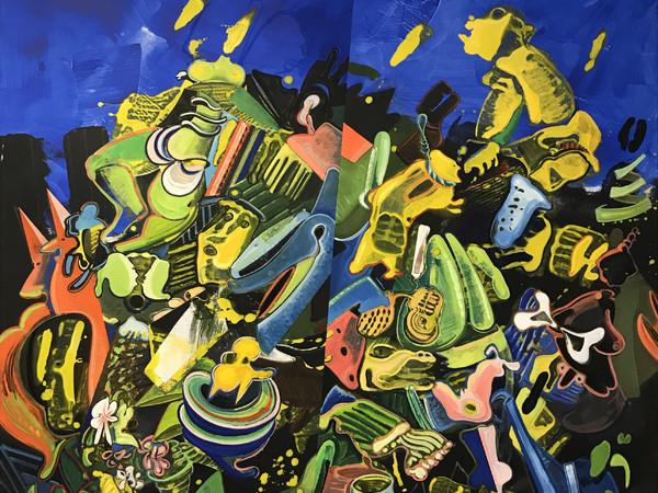 Lucio Pozzi, Color Crowd, 2021