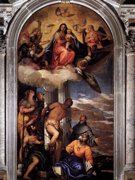 Madonna in gloria con Bambino e Santi