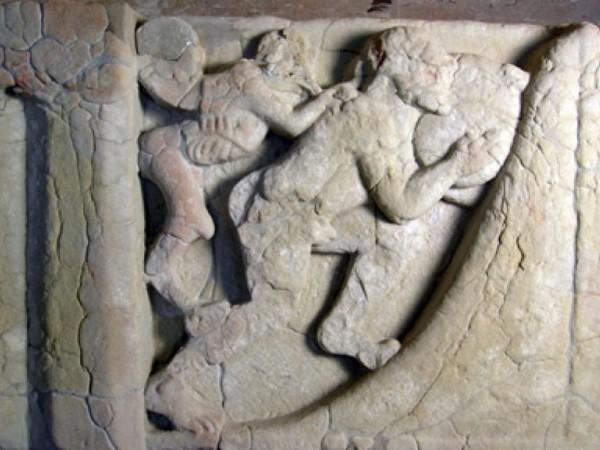 Supplizio di Sisifo, Museo Archeologico Nazionale di Paestum