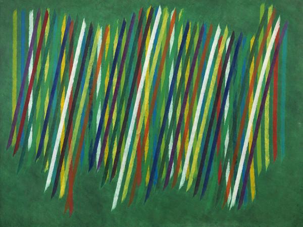 Piero Dorazio, Nel cuore verde, 1965, olio su tela, cm. 148x197