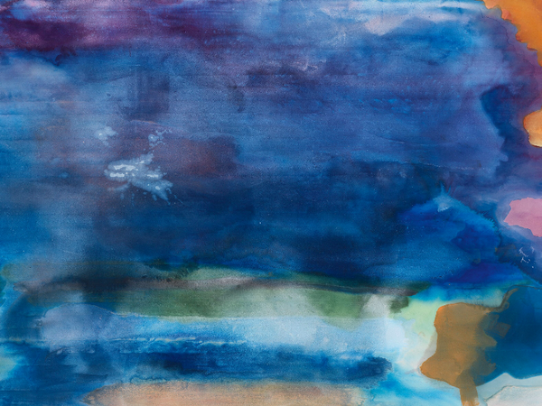 Helen Frankenthaler, Riverhead, 1963, acrilico su tela, 208.9x363.2 cm.