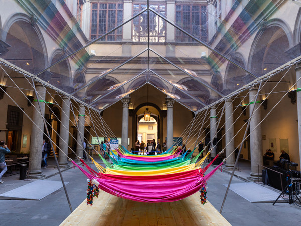Opavivará!, Site‐specific installation rendering for the Courtyard of Palazzo Strozzi Rede Social, 2019 (Rendering by Carlo Pellegrini)