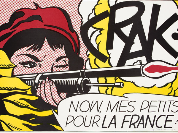 Roy Lichtenstein, Crack!, 1964. Litografia a colori, cm 48,9 x 70,3. Johannesburg Art Gallery, Johannesburg ©Estate of Roy Lichtenstein by SIAE 2015