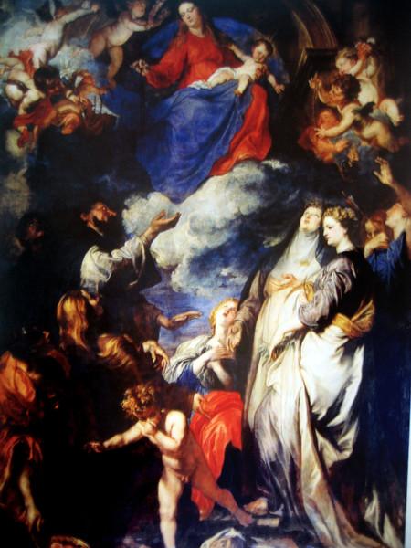 Madonna del Rosario e santi