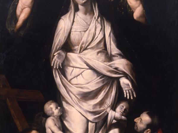 Giovan Battista Crespi detto il Cerano, La Madonna dei Miracoli di Santa Maria presso San Celso venerata da san Francesco e dal beato Carlo Borromeo, ca. 1610